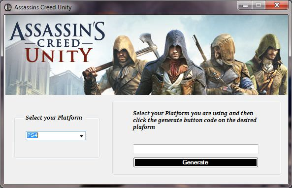 Assassins Creed Unity Redeem Code Generator Screenshot PS4