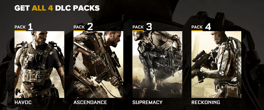 COD Advanced Warfare Season Pass DLC Code