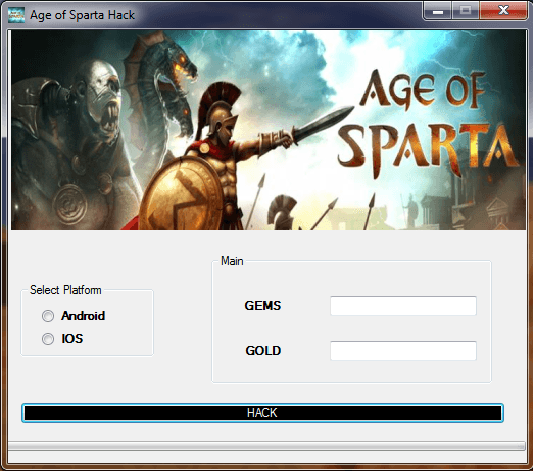 Age of Sparta Hack Tool Screenshot