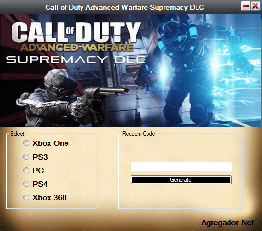 Call of Duty Advanced Warfare Supremacy DLC Codes Generator