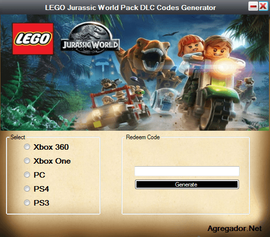 LEGO Jurassic World Pack DLC Codes Generator ScreenShot
