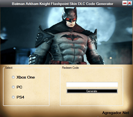 Batman Arkham Knight Flashpoint Skin DLC Code