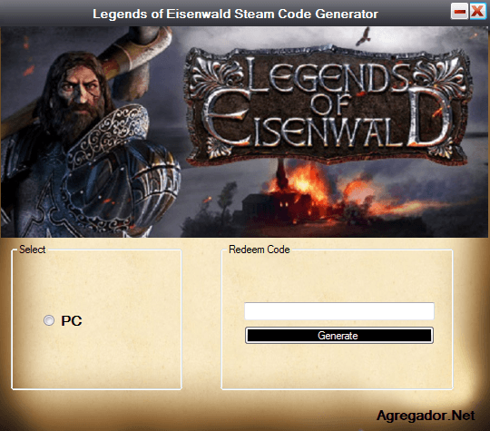 Legends of Eisenwald Steam Code Generator
