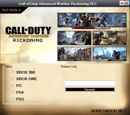 Call-of-Duty-Advanced-Warfare-Reckoning-DLC-Code-Generator