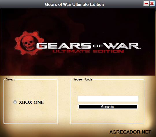 Gears of War Ultimate Edition Redeem Code Generator Screenshot