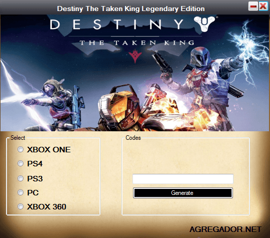 Destiny The Taken King Legendary Edition Redeem Codes