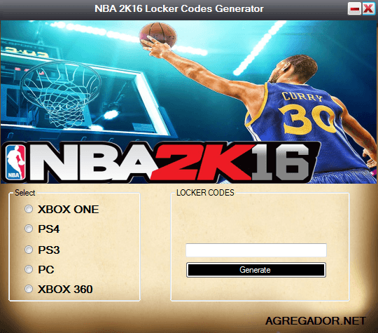 NBA 2K16 Locker Codes Generator