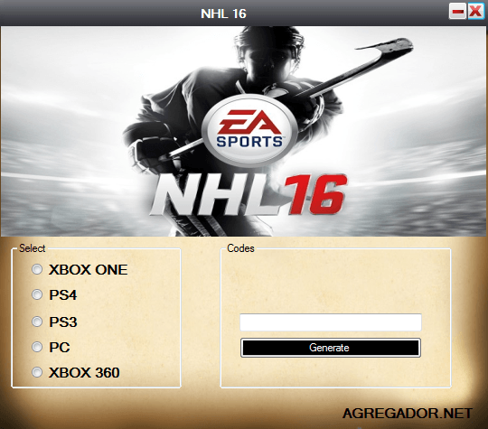 NHL 16 Redeem Codes