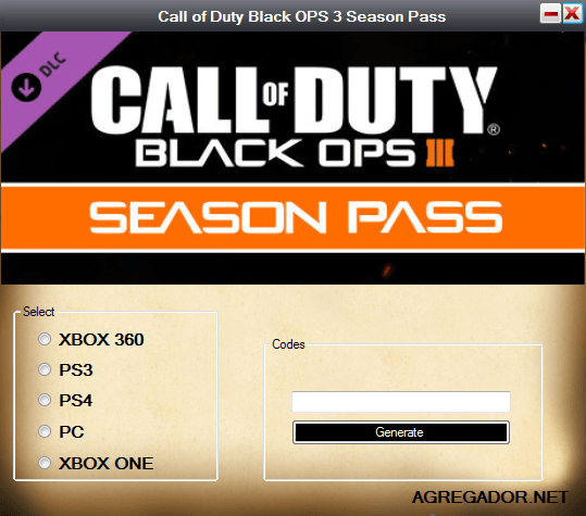 Call of Duty Black OPS 3 Season Pass Code