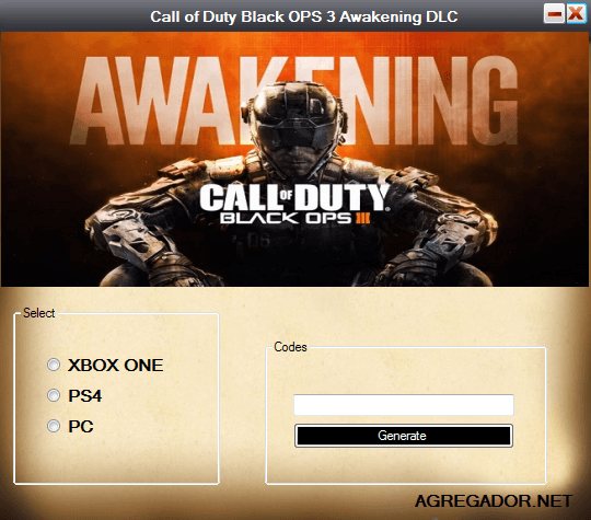Call of Duty Black OPS 3 Awakening DLC Code