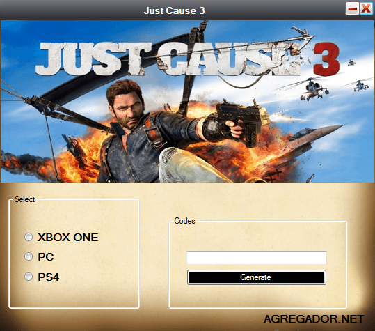 Just Cause 3 Redeem Code