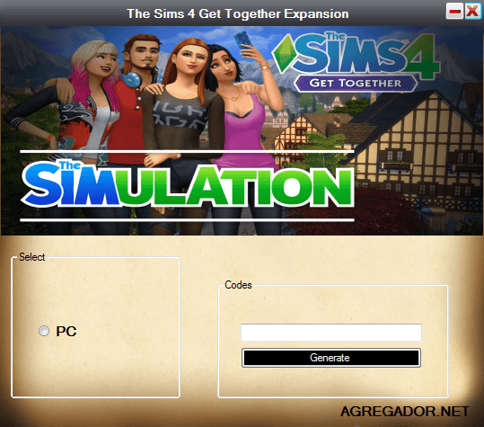The Sims 4 Get Together Expansion Code