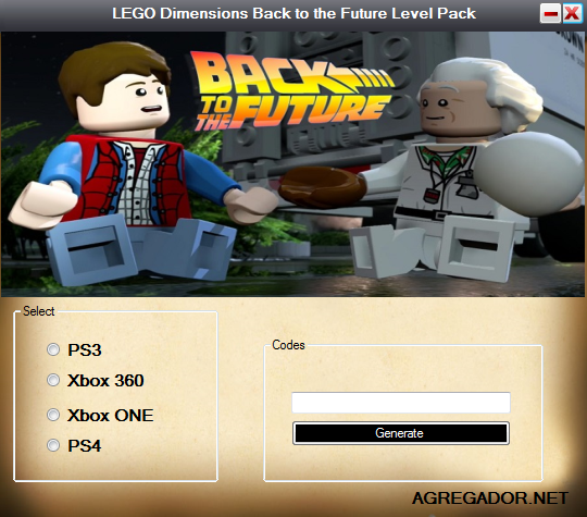 LEGO Dimensions Back to the Future Level Pack DLC Code